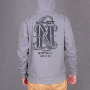 Bluza Nervous Zip Fa16 Snake grey