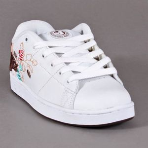 Buty Damskie DVS Revival Print White Leather Leaf Applique