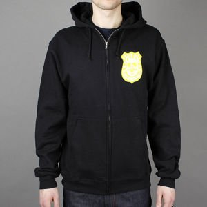 BLUZA ENJOI H12 PIG BADGE ZIP HOOD BLACK
