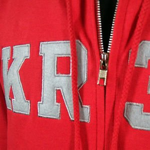Bluza Krew Fa12 Zip Hood L.appli. red