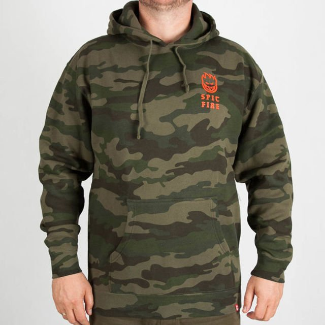 Bluza Spitfire HD Stay Rckin Camo/Wrm.Red