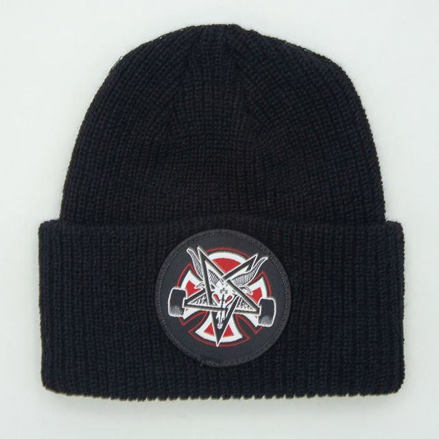 Czapka Independent Thrasher Pentagram Cross Beanie Blk