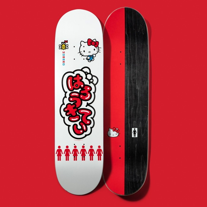 Deska Girl Howard Hello Kitty white / red / black