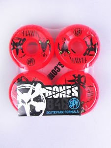 KOŁA BONES HAWK EYE RED 56MM 4PK SKATEPARK FORMULA