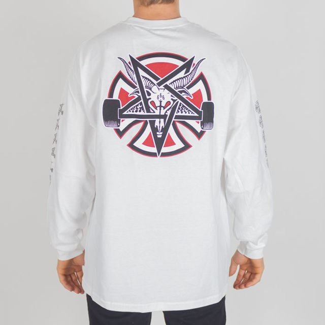 Koszulka Independent Ls Thrasher Pentagram Cross Wht