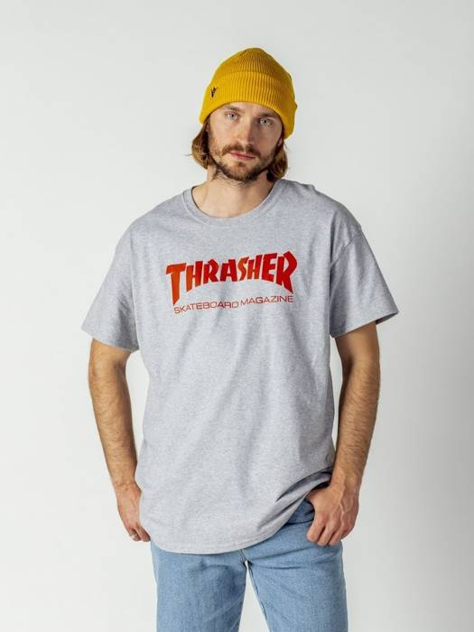 Koszulka męska Thrasher Skate Mag grey heather / red