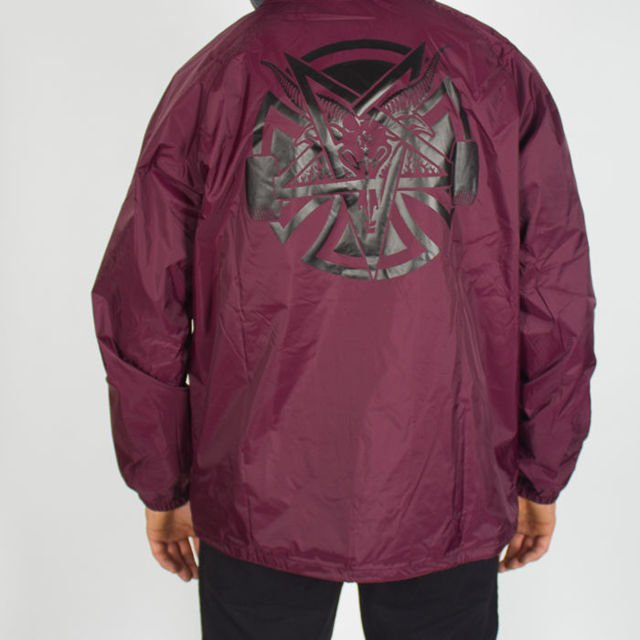 Kurtka Independent Thrasher Pentagram Cross Maroon